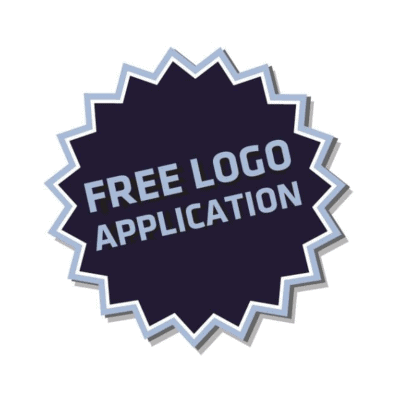 Free embroidered or printed logo